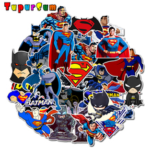 Super Hero Movie Superman Batman Cartoon Skateboard Waterproof Stickers Kids Hydro Flask Motorcycle Aptop Pack