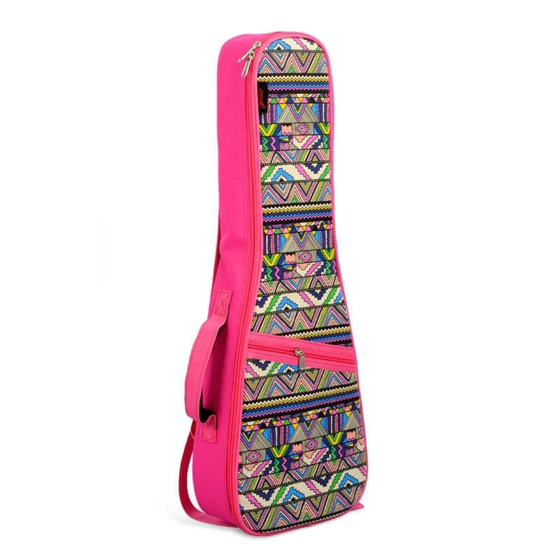 """21 """"23"""" 26 """"ukulele Tasche Baumwolle Gepolsterte Geometrische Gig Bag Gitarre Fall Musical Instruments Vier Hawaii Nationalen Wind Kleine Gitarre Tasche Produkte HeißEr Verkauf"""