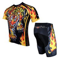 3D Tiger design ciclismo Jersey de Los Hombres Respirables de Primavera y Verano bike ropa Ciclismo Manga Corta Jersey