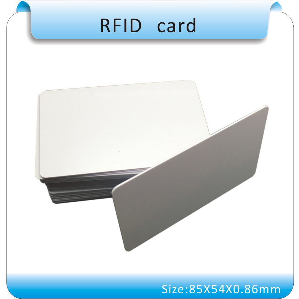Production Of 100pcs High Quality 125KHZ EM4305 Erasable ID Card, Standard Credit Card Size, White PVC Can Onto Printing Faces