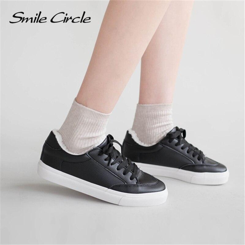 Smile Circle Super yumşaq Qış kürk İdmanı Ağ Qadın Krujevalı - Qadın ayaqqabıları - Fotoqrafiya 2