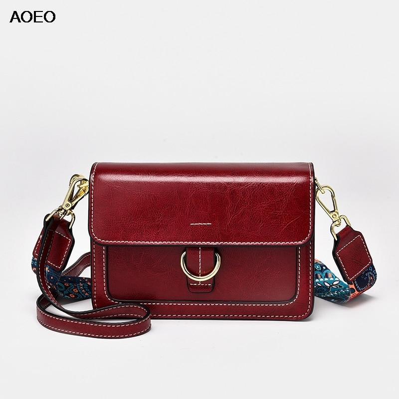 AOEO Womens Shoulder Bags Crossbody Fashion New Woman Bag 2019 Designer Handbags High Quality Split Leather