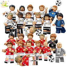 12st 2018 Fotboll Figur Fotbollsspelare Kickers Team Building Blocks Kompatibel Legoing Toy Ryssland Tyskland Child Assemble Brick