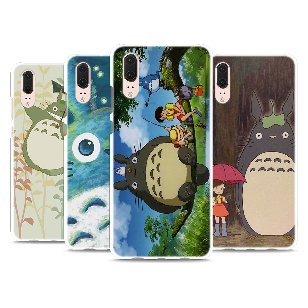 My Neighbor Totoro design Hard White Phone Case for Huawei P20 P20 Lite P Smart P10 P8 P9 Lite 2017 P10Lite ...