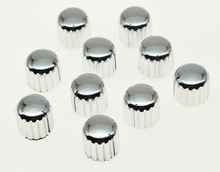10x Silver Plastic Guitar AMP Amplifier Knobs Knurled Pointer Knob 18×17(mm)
