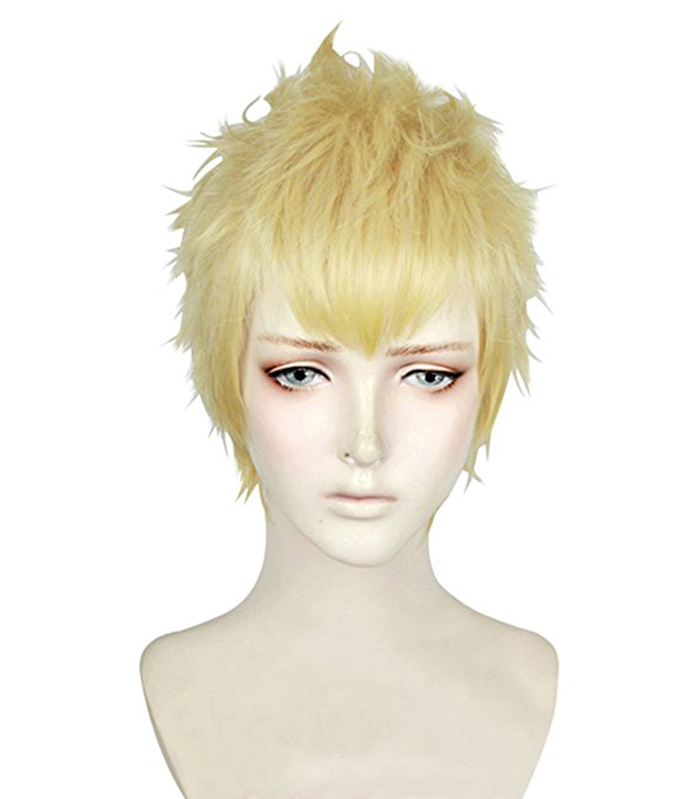 Image 2 - P5 Persona 5 Ryuji Sakamoto Wigs Styled Short Golden Blonde Heat Resistant Hair Cosplay Costume Wig + Wig Cap-in Anime Costumes from Novelty & Special Use