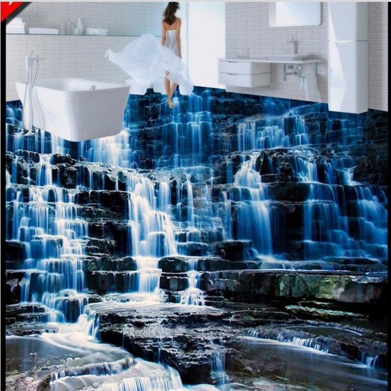 Popular 3d waterfall buy cheap 3d waterfall lots from for Definition mural