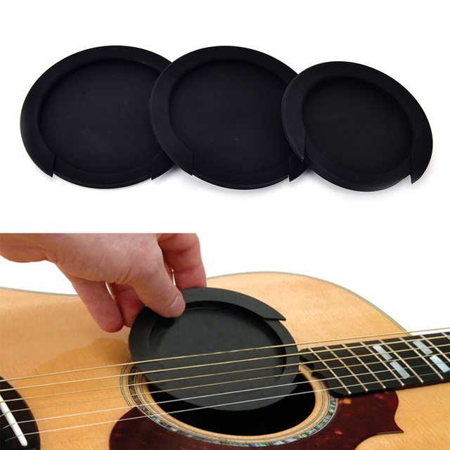 3 Sizes Silicone Acoustic Classic Guitar Feedback Buster Sound Hole Cover Buffer Block Stop Plug Guitar Parts & Accessories