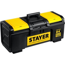 Ящик для инструмента STAYER TOOLBOX-24 (Размеры 590x270x255мм, съемная полка, встроенный органайзер)