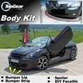 Bumper Lip Deflector Lips For Peugeot 208 307 306 308 301 Front Spoiler Skirt For TopGear Fans Car View Tune / Body Kit / Strip