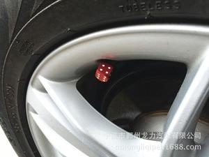 Image 3 - 1000pcs/lot Blue Dice Dust Valve Caps VW CAR BIKE 80s Novelty Fun Retro 6 colors