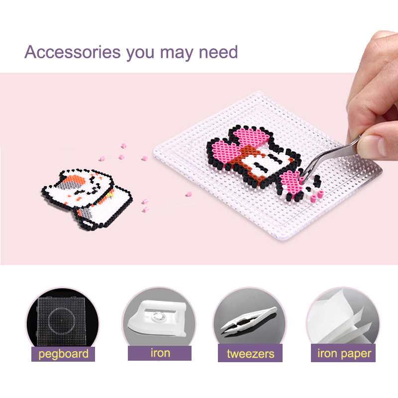 Image 5 - 225colours 2.6mm YANTJOUET 1000pcs Perler Beads Iron Beads for kids Hama Beads Fuse Beads Diy Puzzles Mini Beads quality Gift-in Puzzles from Toys & Hobbies
