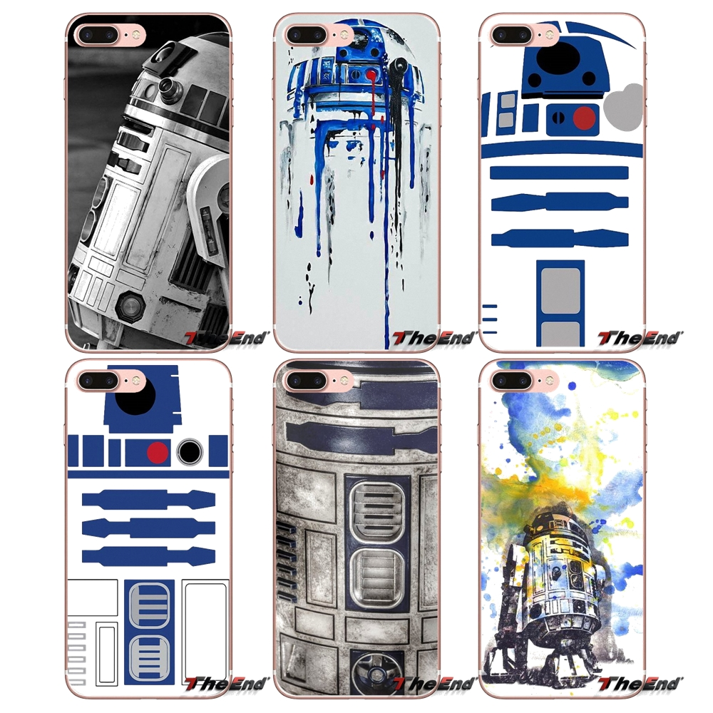 US $1 0 |Star Wars R2D2 Robot Cell Phone Case Cover For Apple iPhone X 4 4S  5 5S SE 5C 6 6S 7 8 Plus 6Plus 7plus 8plus Fundas Coque-in Half-wrapped