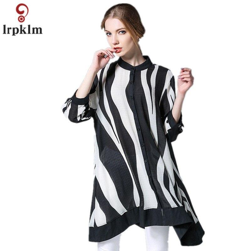 XXXL 4XL Mujeres Cardigan Camisa de La Blusa de Gran Tamaño de Primavera Patchwo