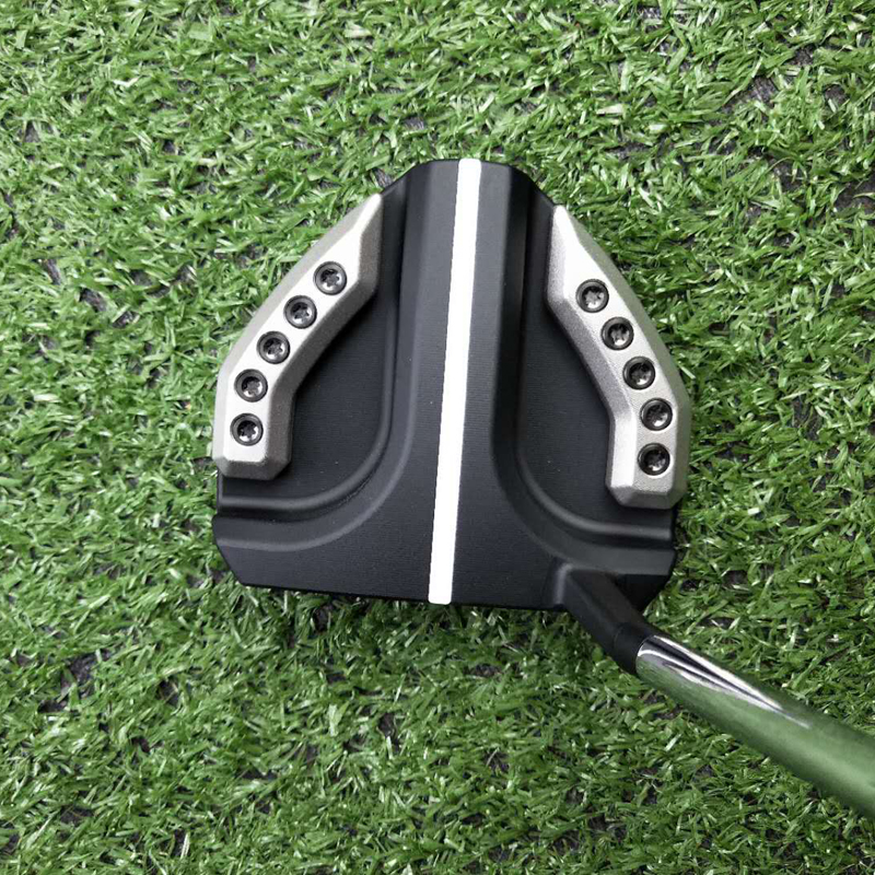 Golf Putter Long Rod Silver/black Putters Golf Cluds Send Cap Set Physical Picture Please Contact The Seller