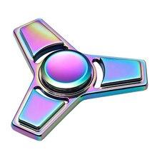 มือปั่นอยู่ไม่สุขของเล่น,สายรุ้งที่มีสีสันTri-s Pinnerนิ้วของเล่นสำหรับออทิสติกและสมาธิสั้นความวิตกกังวลความเครียดบรรเทาโฟกัสของขวัญใหม่!