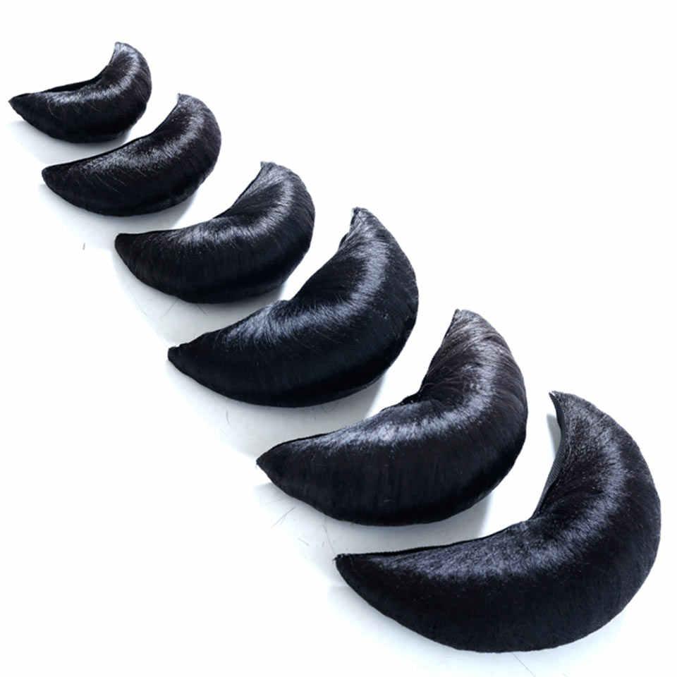 WTB черный волос Chignon синтетические быстро булочка Coque Cabelo парики волос Бун Pad черный бык рогом парик