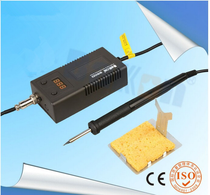 50W Portable Temperature Controlled Soldering Iron Station with T12 Plug In Heating Element Bk950D