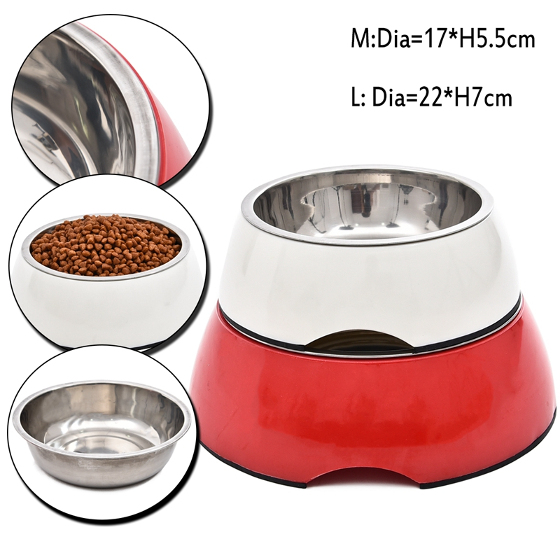 Durable Stainless Steel Dog Feeders Pet Dog High Quality Bowl Cat Water Feeder Antiskid Dog Bowl Suitable for Small/Large Dogs