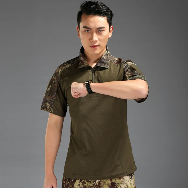 Mandrake Frog suit short sleeve shirt Polyster/cotton Man Tactical shirt Tactical TDU Rapid Assault Shirt Short Sleeve