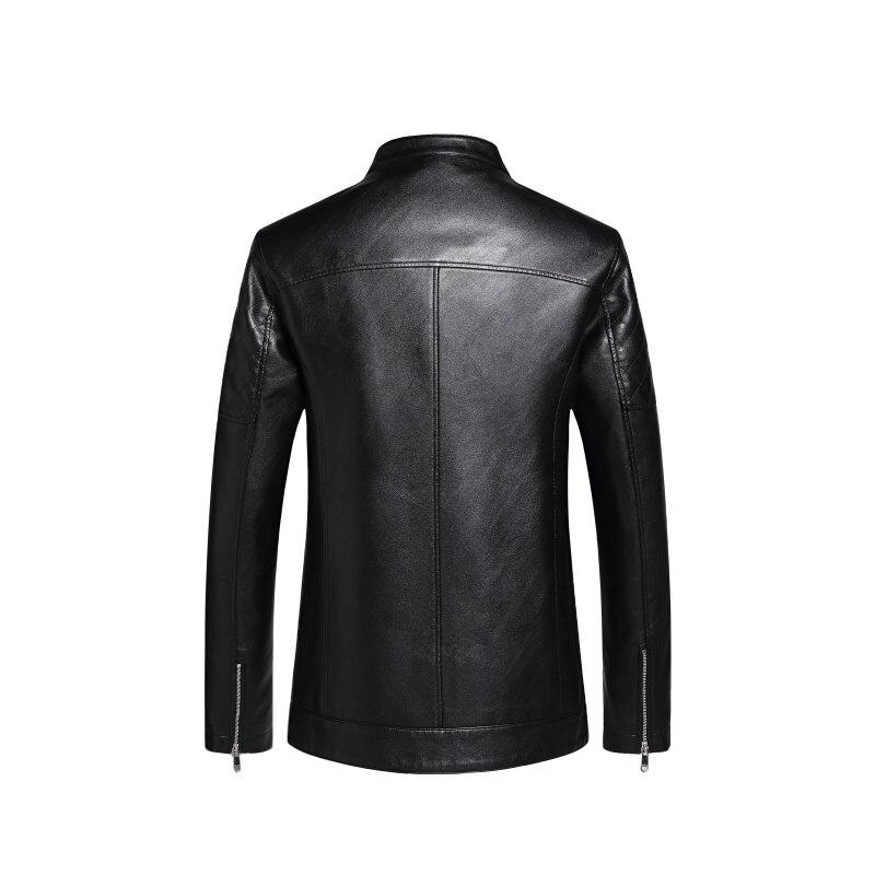 Mode Court Homme Manteau Mouton 1788 Automne En Veste Peau Vêtements Cuir Noir Hommes De Nouveau p5wqa