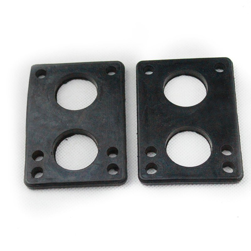 New 2pcs 6mm Black Rubber Gasket Longboard Riserpad Long Board Riserpad PU Skateboard Parts Rubber Pad Free Shipping