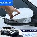 QCBXYYXH автомобильный Стайлинг для Toyota C-HR CHR 2017 2018 2019 накладка на зеркало заднего вида автомобиля рамка внешняя отделка Аксессуары ABS