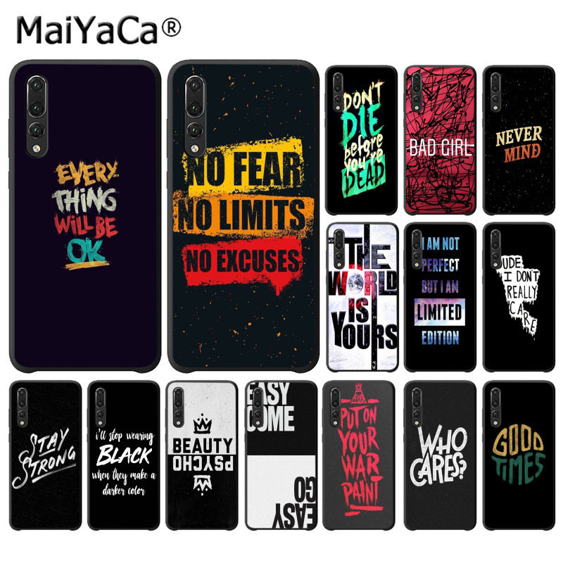 MaiYaCa Cool Quotes Every Thing Will Be Ok TPU Soft Phone Case for Huawei P10 plus 20 pro P20 lite mate9 10 lite honor 10 view10