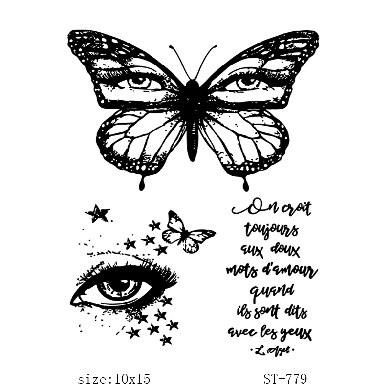 Eyes Stamps Butterfly Clear Rubber Stamp for DIY Craft Card Making Scrapbooking Transparent Silicone