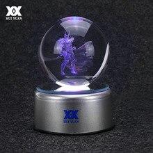 Hero Thor 3D Crystal Ball Lamp Raytheon Desktop Decoration Glass Ball Night Light LED Colorful Rotate Base HUI YUAN Brand