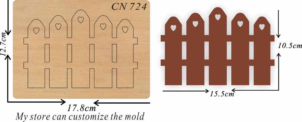 Fence new wooden mould cutting dies for scrapbooking Thickness 15 8mm
