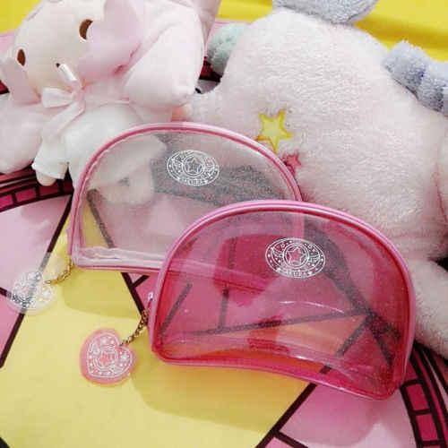 Brinquedo Figura de Ação Anime Card Captor Sakura Kinomoto Impresso Meninas Cosmetic Bag Mini Bolsa Compo o Saco do Bolso a Carteira