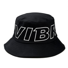 New Fashion Bucket Hat VIBR Letter Print Outdoor Fisherman Hats Unisex Printing panama caps Sun Fishing Cap