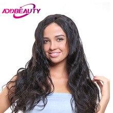 Addbeauty бразильский Для тела волна волос Девы длинные волосы РСТ (ПП) 10%-20% Человеческие волосы Weave Связки Natural Цвет для салона