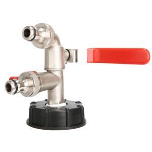 Image 2 - Adaptador IBC de 1000 litros, Conector de tanque de agua de jardín, adaptador de tanque de agua de lluvia, conectores de agua para jardín doméstico