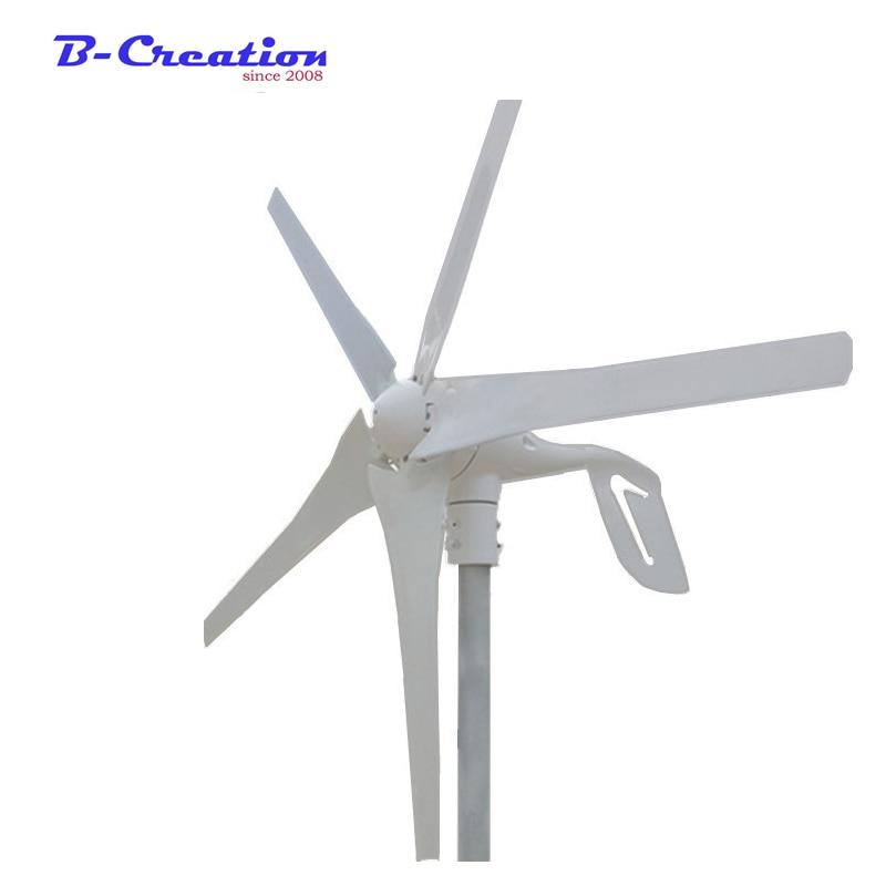 Макс. 500 Вт, 400 Вт ветрогенератор 12 В/24 В постоянного тока 3 или 5 лезвий обруч и фланцевое основание с бесплатным 600 ватт водонепроницаемым кон