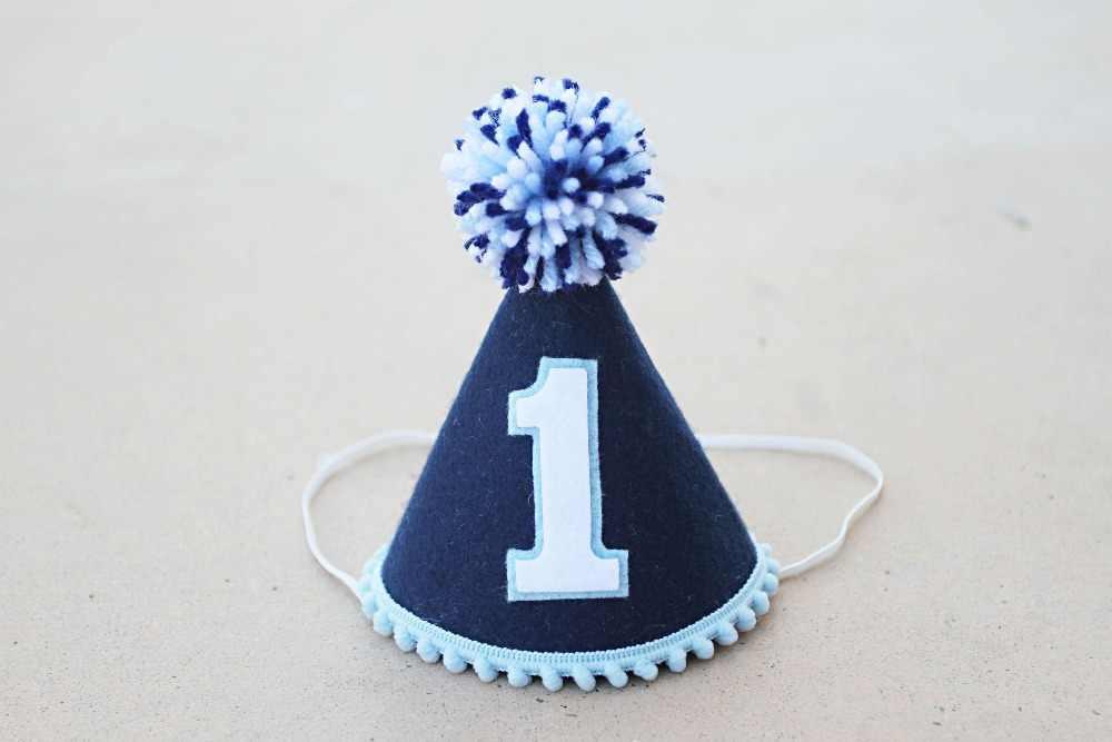 Boys 1st Birthday Blue Hat Mini Party Hat Boys First Birthday Nautical Felt Party Hat Newborn Birthday Hat Party Hats Aliexpress
