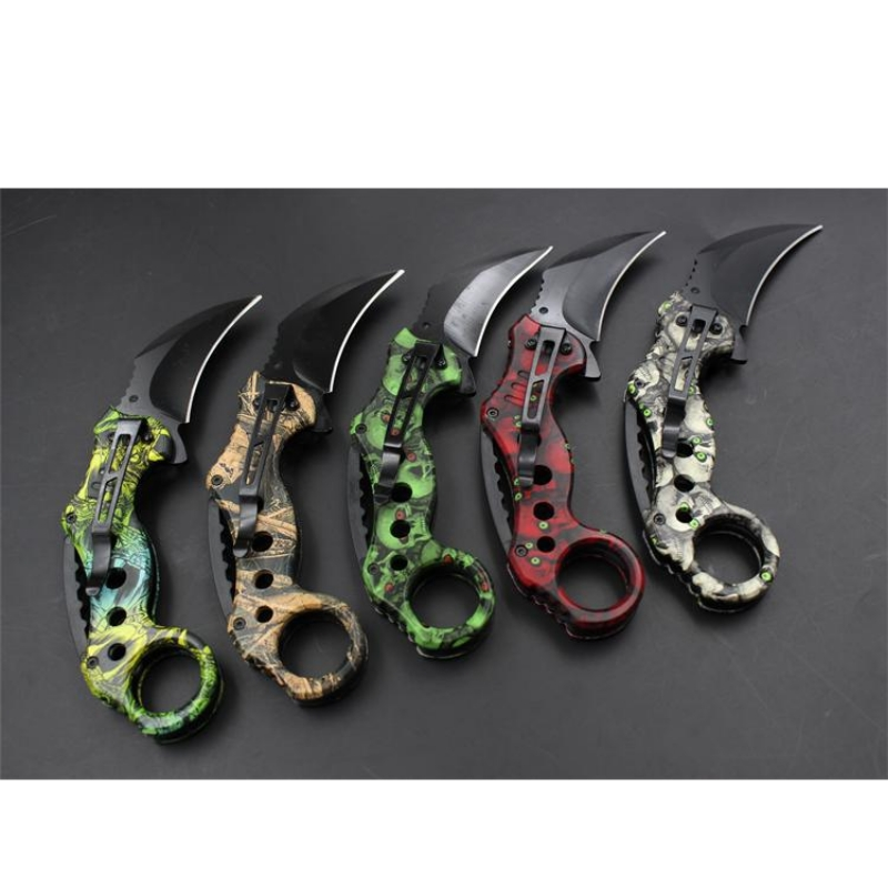 DUAN FA  fidget spinner jungle wild razor scorpion claw knife magic scorpion knife Wrestling survival of stainless steel 5 color fonksiyonlu rende