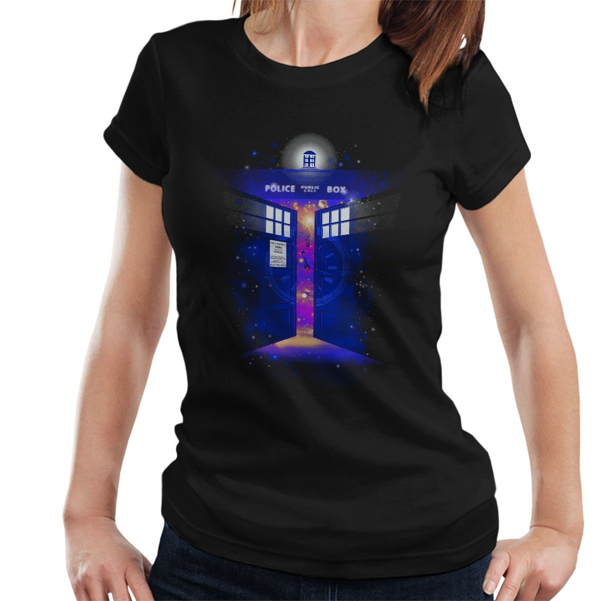 2018 fashion t-shirt Police Box Time Gate Doctor Who Womens T-Shirt