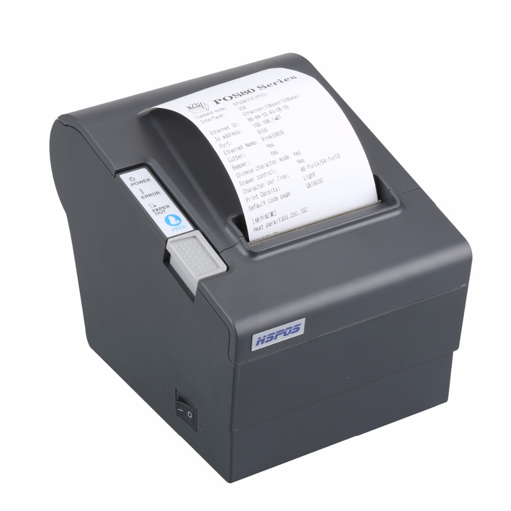 цена Cheapest Bluetooth Ethernet USB POS 80MM POS80 thermal billing receipt printer with auto cutter andorid and win10
