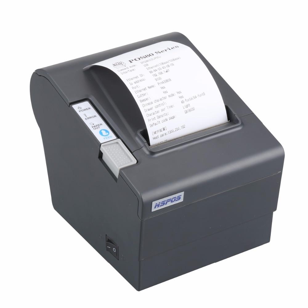Moins cher Bluetooth Ethernet USB POS 80mm POS80 thermique imprimante ticket avec coupe-papier automatique andorid de facturation et win10