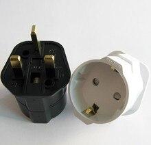 Europejski 2 Pin do wielkiej brytanii 3 wtyk pinowy Adapter Euro ue Schuko Travel Adapter sieciowy