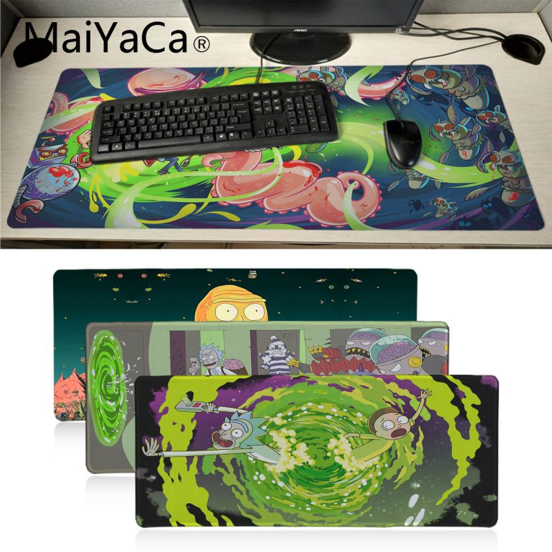 Maiyaca Rick And Morty Anime Unique Desktop Pad Game Mousepad BIG SIZE Rubber PC Computer Gaming Mouse Pad Gamer Desk Pad