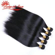 Unprocessed Burmese Virgin Hair 5 Pieces Virgin Hair 6A Grade Burmese Straight Hair Free Shipping By DHL