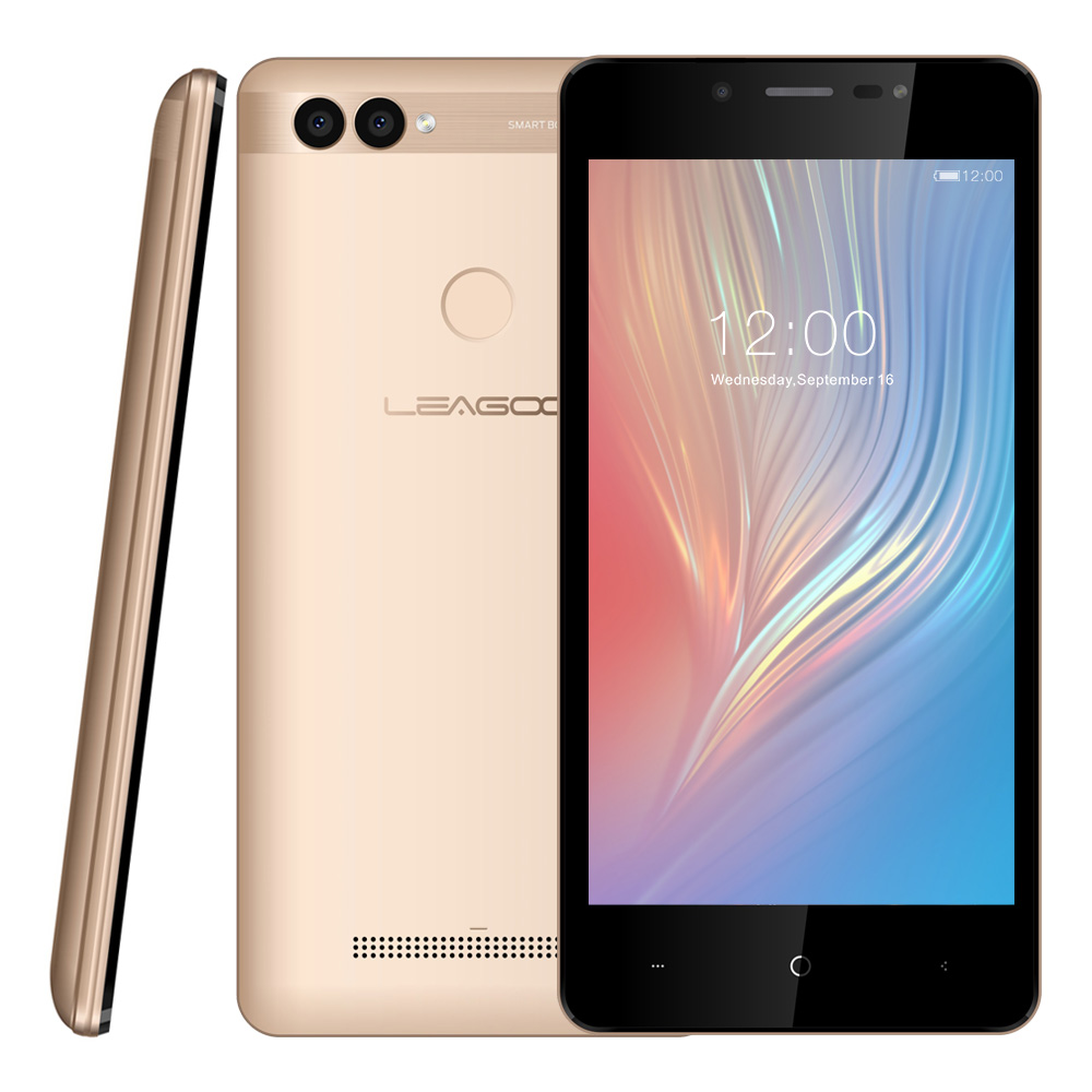 "LEAGOO POWER 2 Mobile Phone 5.0""HD IPS RAM 2GB ROM 16GB Android 8.1 MT6580A Quad Core Dual Camera Rear Fingerprint 3G Smartphone-in Cellphones from Cellphones & Telecommunications    3"