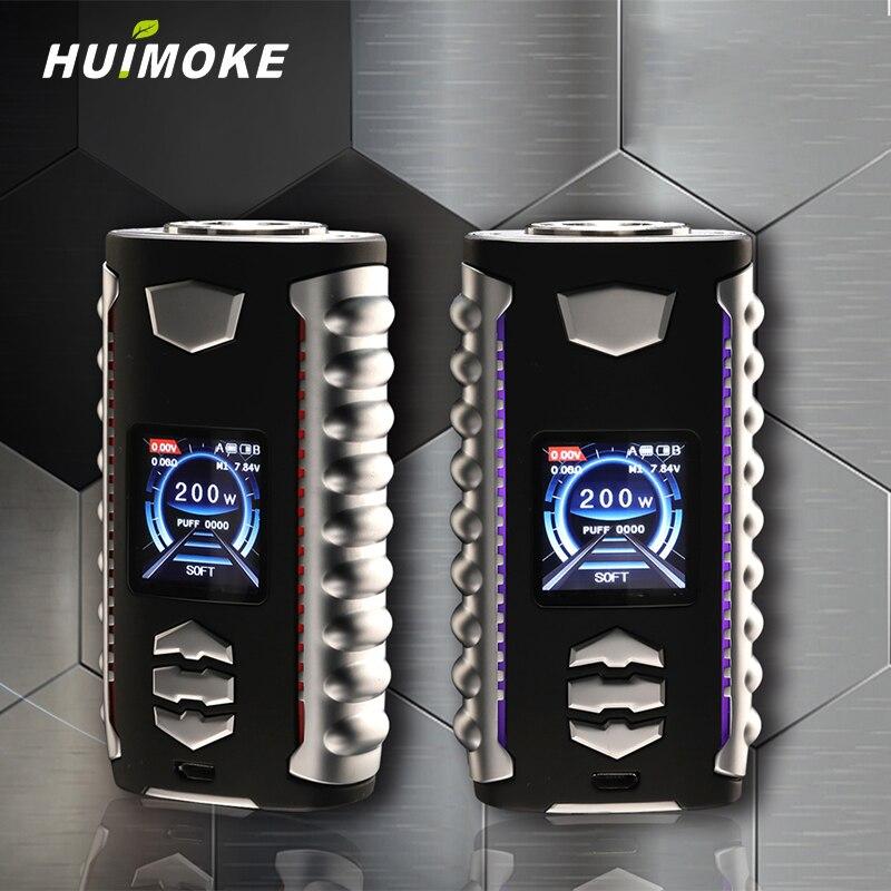 5 w a 200 w Regolabile HUIMOKE E OVANDY VEGA E-cigarette Batteria Corpo Con Dual 18650 Compatibile Con tutti i Tipi 510 Atomizzatore