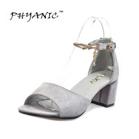 PHYANIC Mary Jane Sandals Women High Heels Nice Summer Shoes Womens Sandals Sexy Thick Heels 6cm