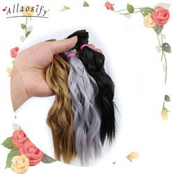 Allaosify BJD вьющиеся волосы 25 см * 100 парик для куклы синтетические волосы парик Бесплатная доставка
