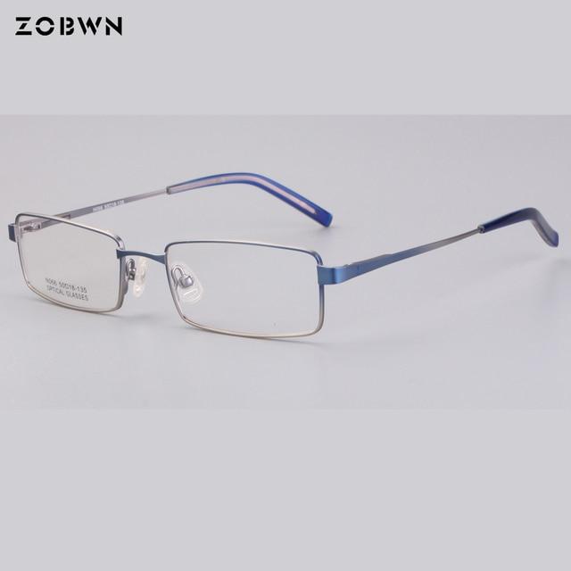 Classic Simple half frame Black Eyeglasses Vintage Metal Optical ...
