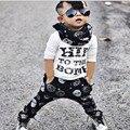 Newbron Мальчиков Одежда Полная Длина Рубашки Черепа Брюки Мальчиков Одежда Набор Осень-Весна Детские Мальчик Одежды Младенца Спортивный Костюм